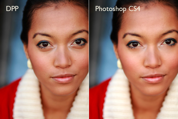 DPP & Photoshop CS4 comparison