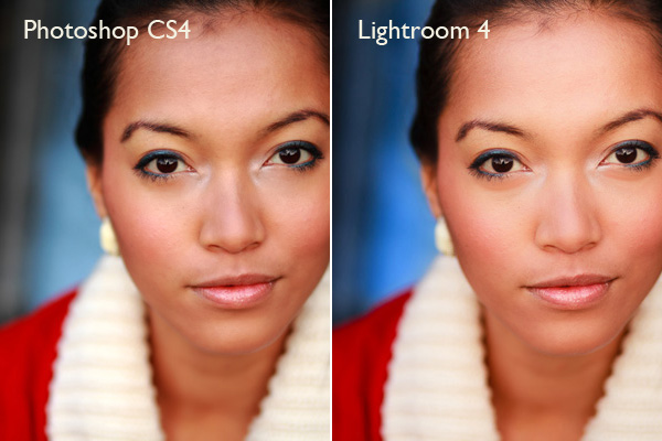 Photoshop CS & Lightroom 4 comparison