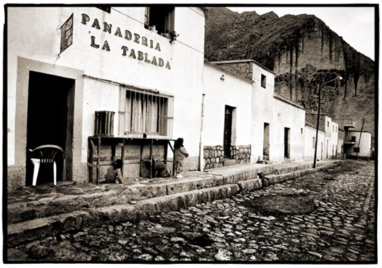 Black and white fine art photograph of Iruya, Argentina